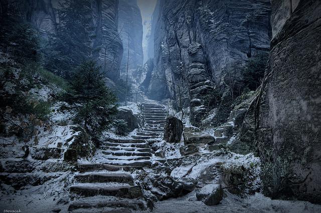 """""""Emperor's Corridor, Prachov Rocks (Prachovské Skály)"""" by Steve Coleman"""