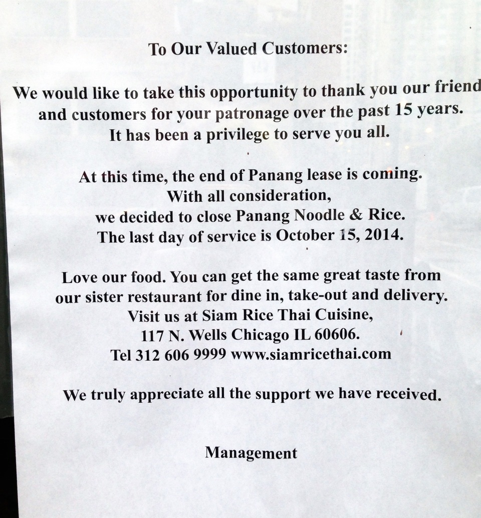 panang closing notice