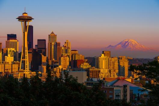 """Seattle Sunset"" by Howard Ignatius"