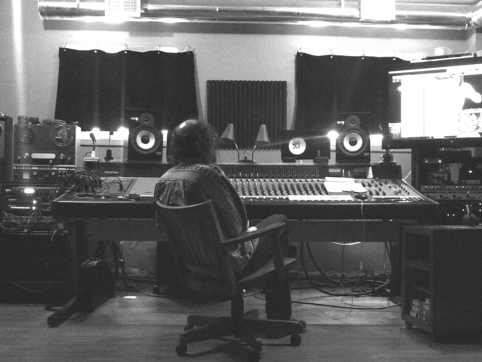 Tony at the sound board