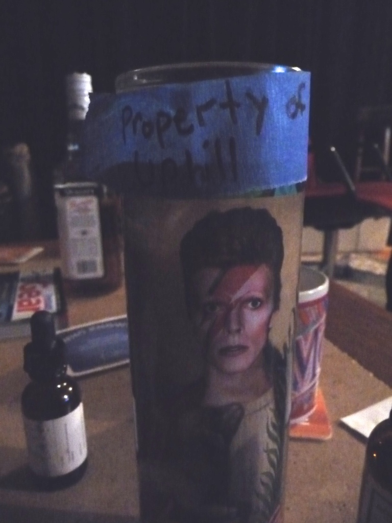 The Bowie candle has been commandeered