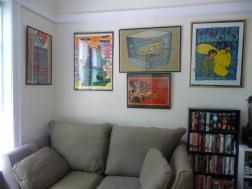 leland jay ryan poster wall and sofa