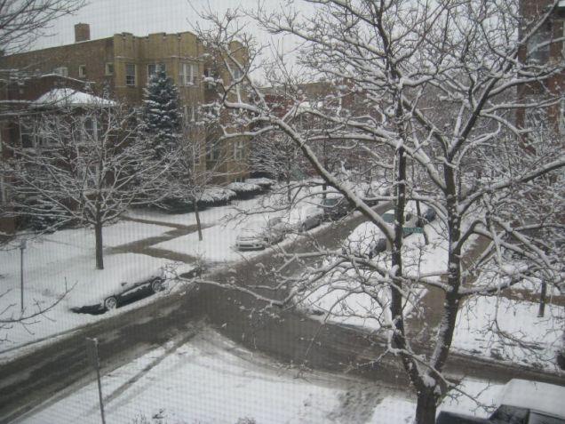talman snowy street corner