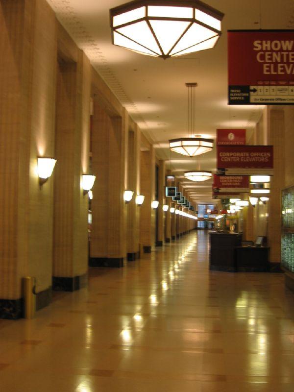 merchandise mart empty hallway