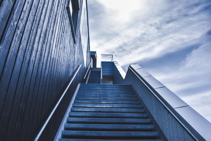silver stairway by håkon sataøen unsplash