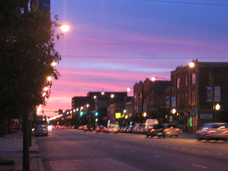 sunset over uke village 2007