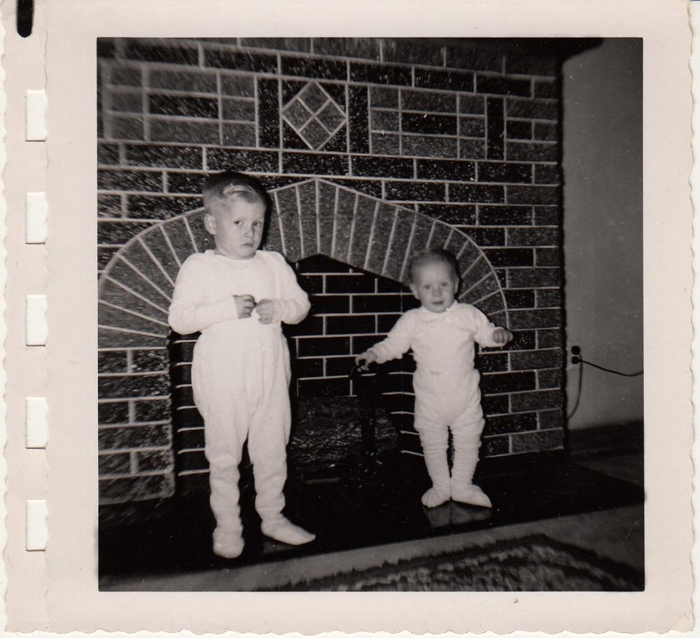 black and white 1950s baby photo