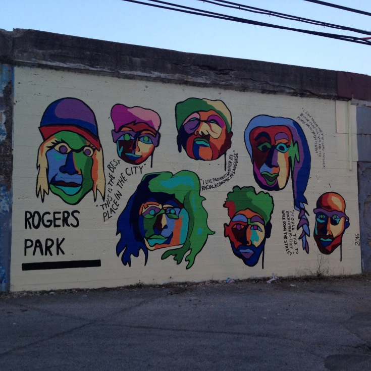 rogers park mural on albion