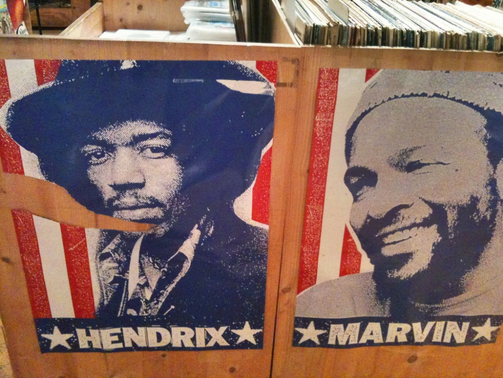 jimi hendrix and marvin gaye at laurie's planet of sound