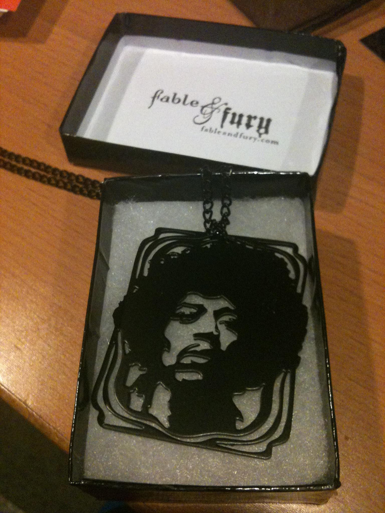 jimi hendrix fable and fury necklace