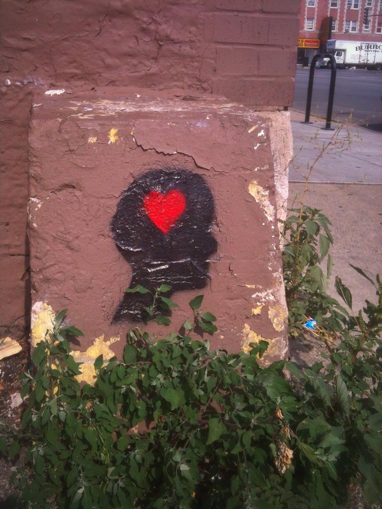 center of head heart stencil