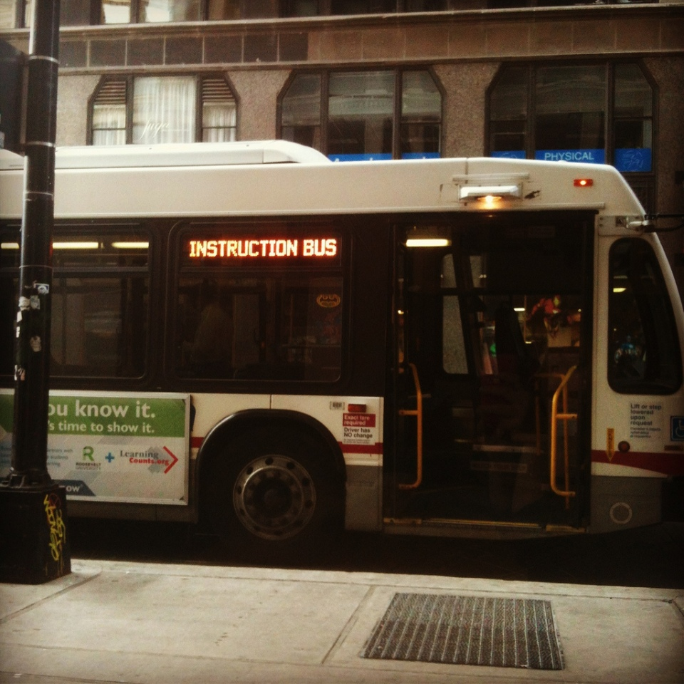 chicago transit authority instruction bus